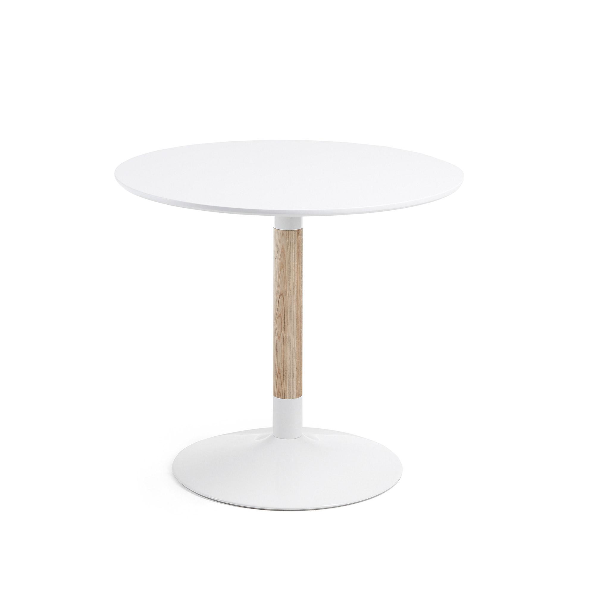laforma Laforma tic caf?bord - hvid/natur metal/asketræ, rund (ø90) fra boboonline.dk