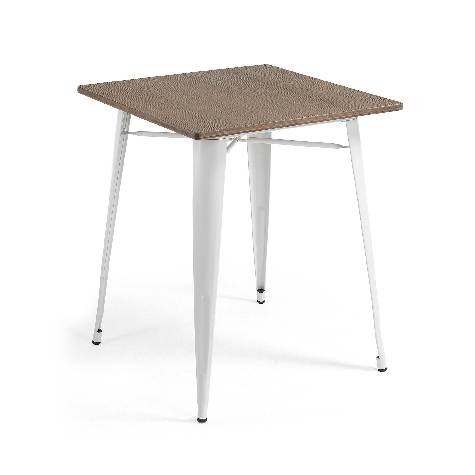 laforma Laforma malibu caf?bord - brun/hvid bambus/stål, kvadratisk (80x80) fra boboonline.dk