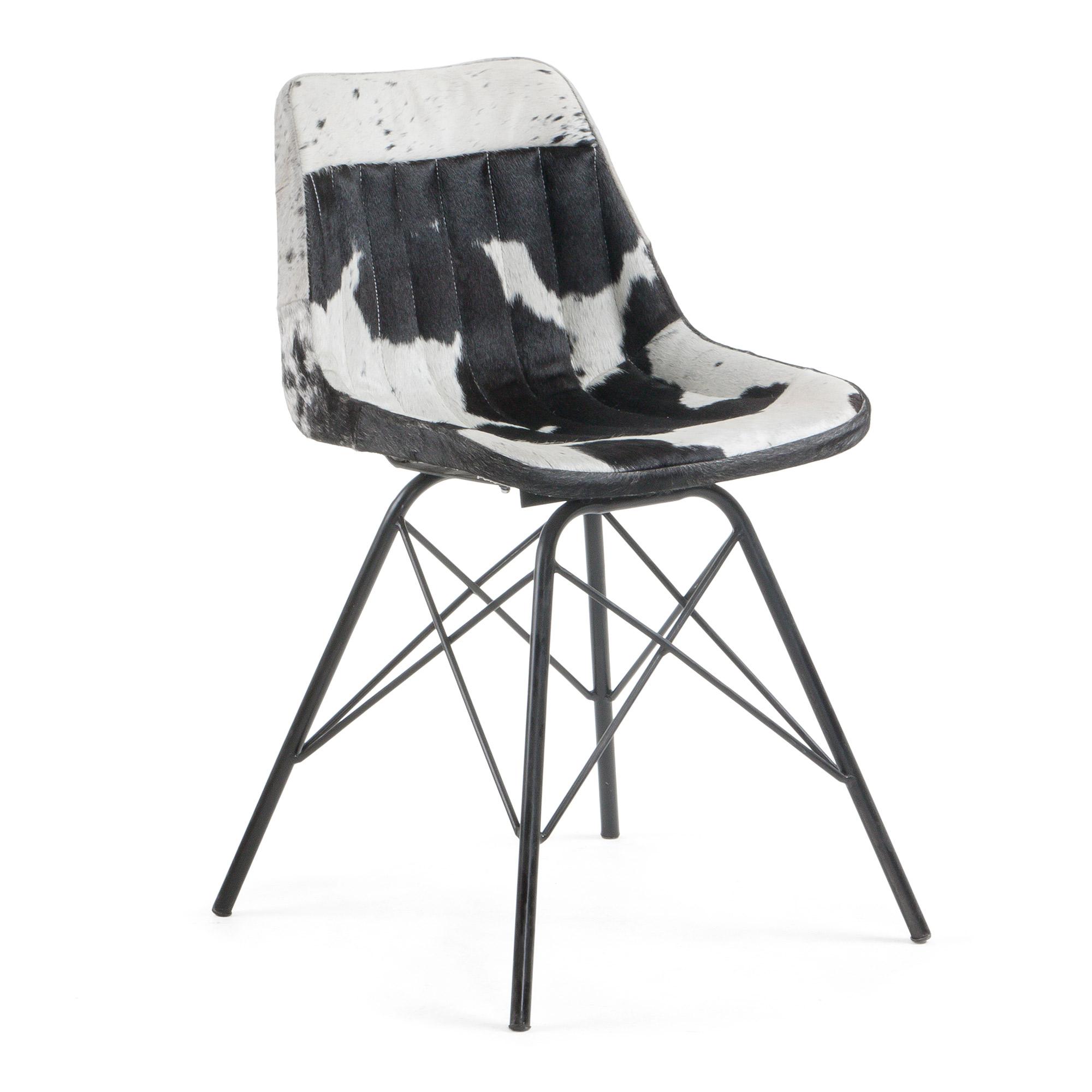 laforma Laforma tribu spisebordsstol - hvid/sort læder og stål fra boboonline.dk