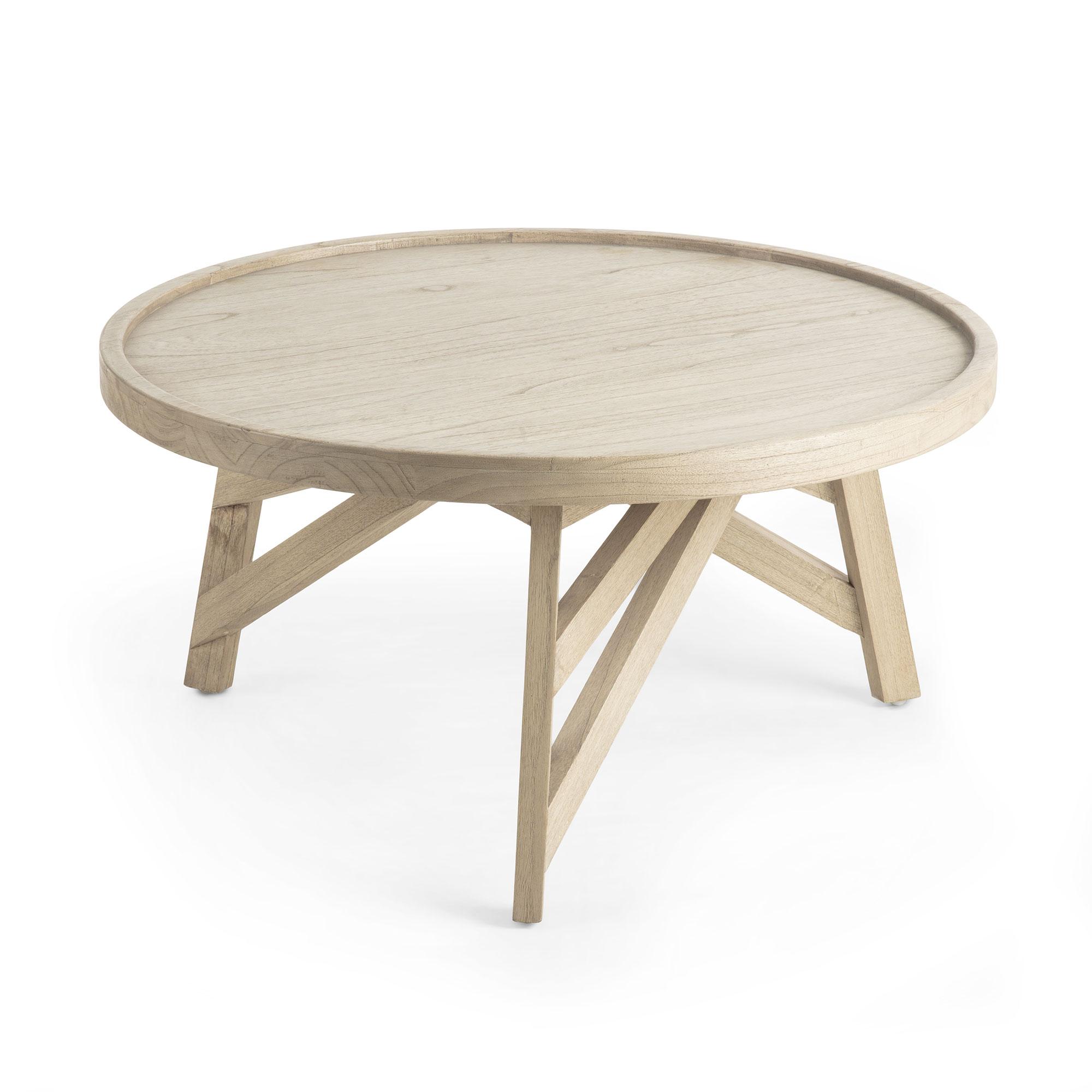 LAFORMA Thais sofabord - grå minditræ, rund (Ø80)