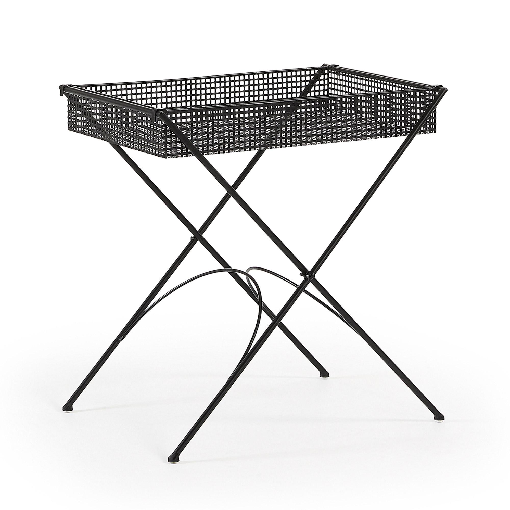 LAFORMA Tulson bakkebord - sort metal, rektangulær