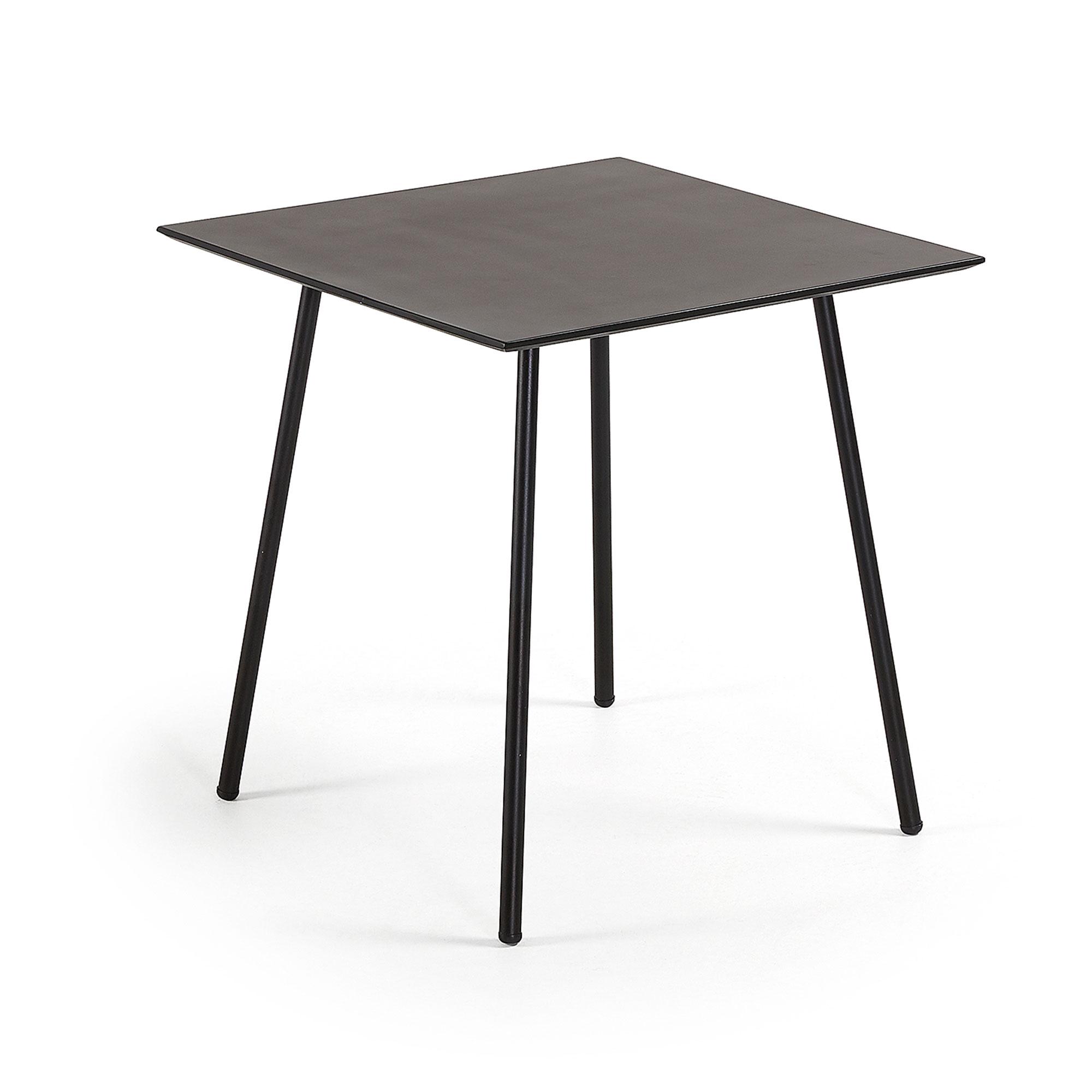 laforma – Laforma ulrich caf?bord - sort polycement/stål, kvadratisk (75x75) på boboonline.dk