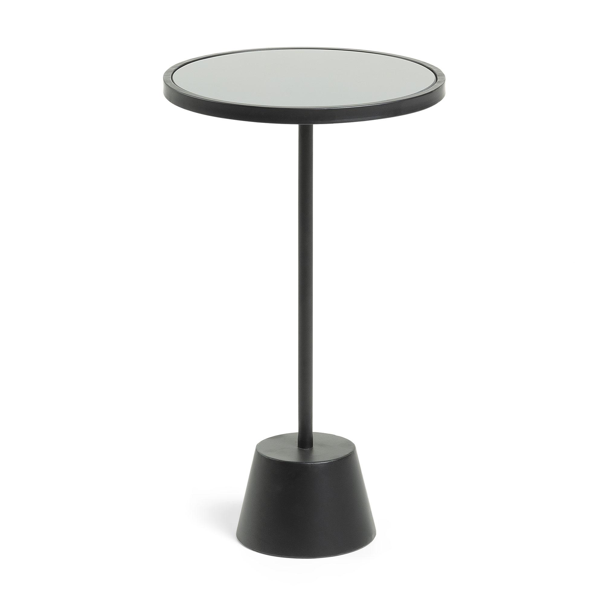 Laforma morrison sidebord - sort glas/metal, rund (ø35) fra laforma på boboonline.dk