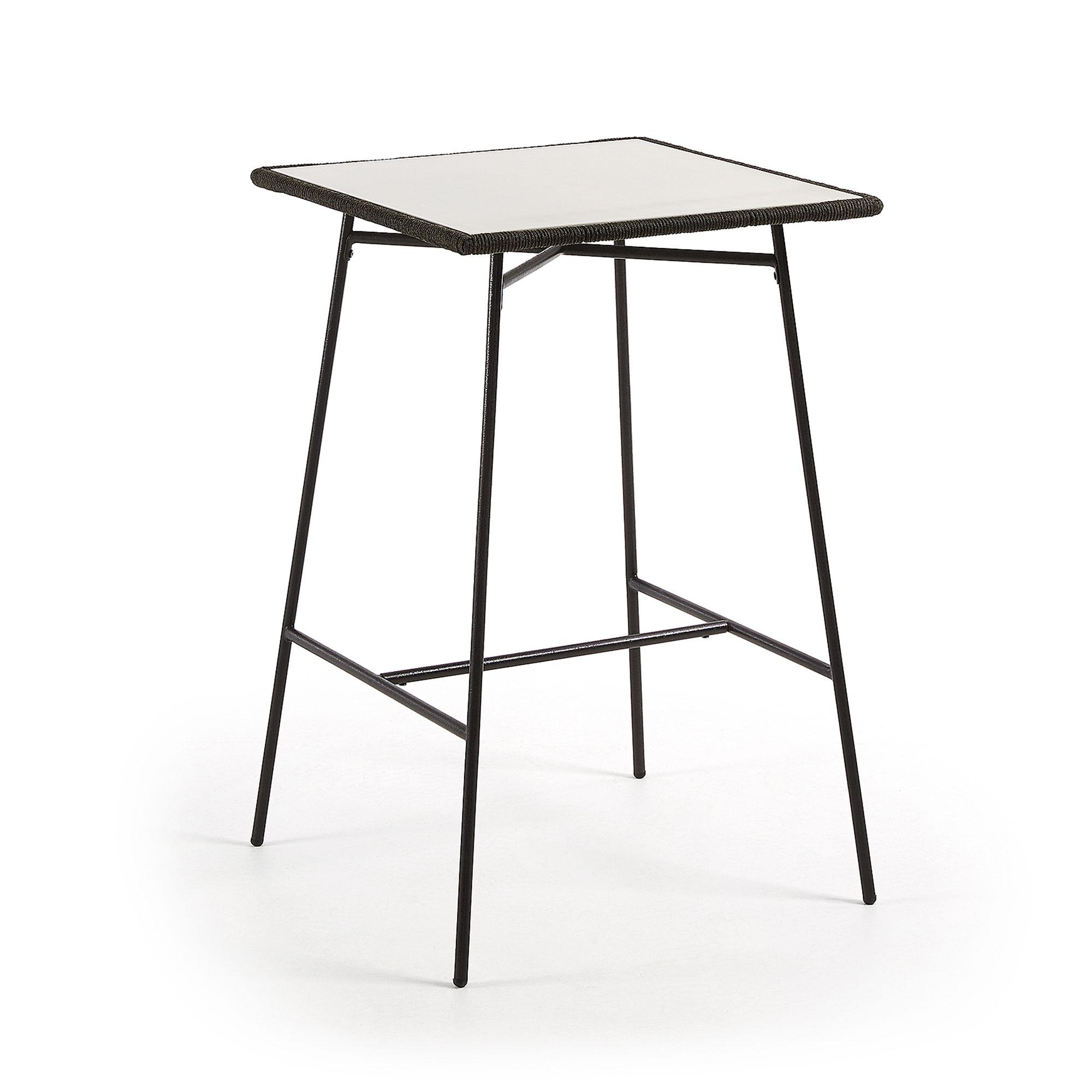laforma – Laforma freeman caf?bord - lysegrå/grå polycement/stål, høj, kvadratisk (70x70) fra boboonline.dk