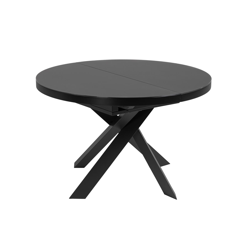 laforma Laforma vashti spisebord, m. butterflybordplade - klar glas og sort stål (ø120) fra boboonline.dk
