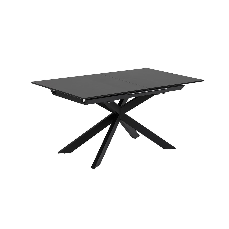 laforma Laforma atminda spisebord, m. udtræk - klart glas og sort stål (160(210)x90) på boboonline.dk