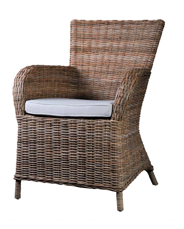 Novasolo wickerworks rook spisebordsstol med armlæn