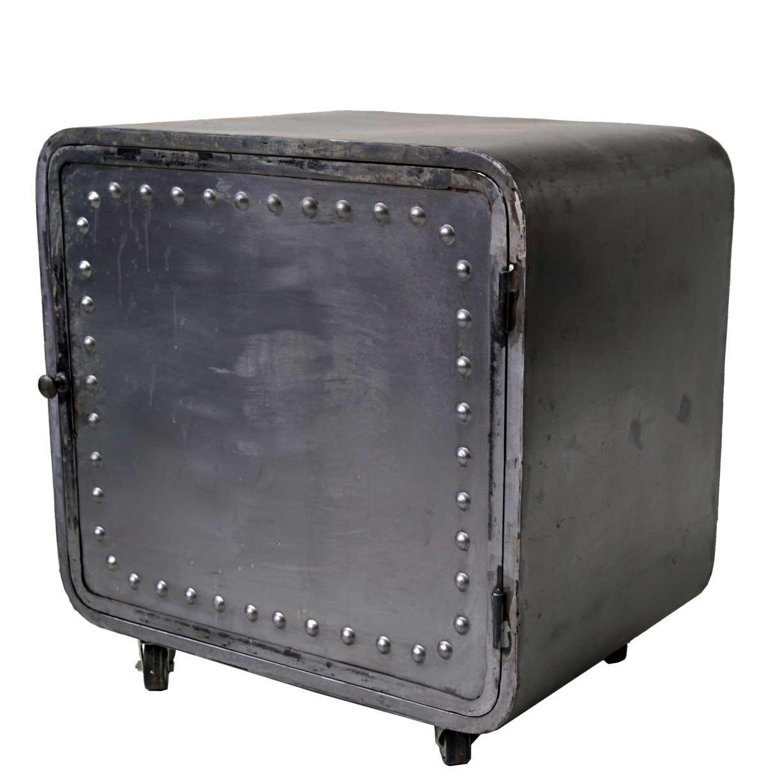 Billede af Trademark Living Jernkabinet med hjul i rå fabriksstil
