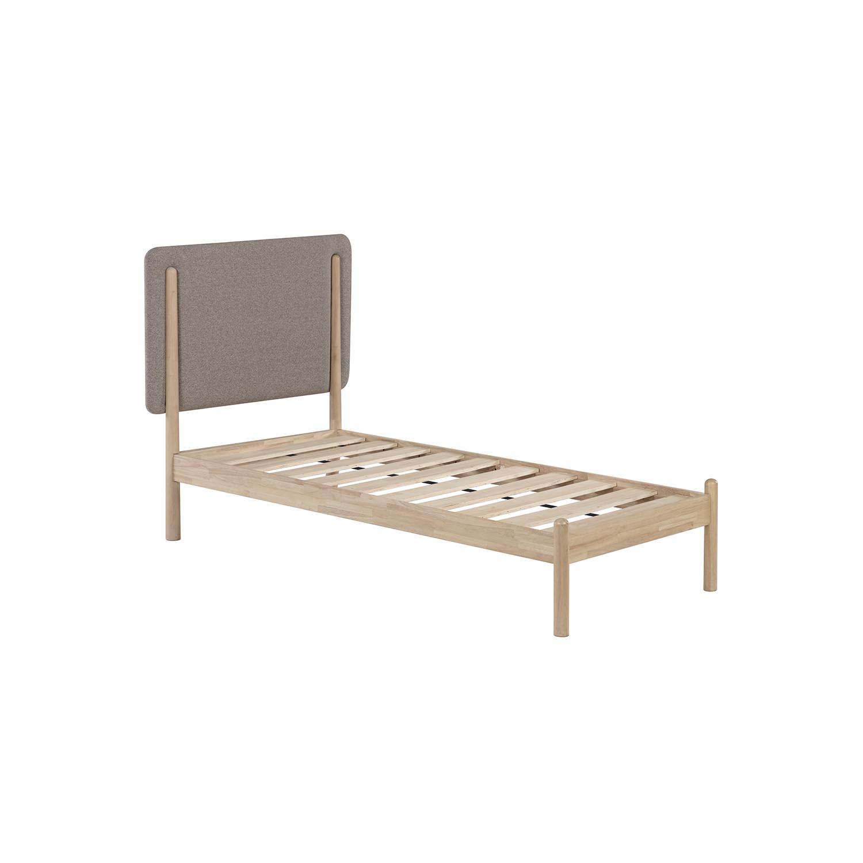 Laforma Shayndel Sengeramme - Grå Og Natur Gummitræ (90X190) Soveværelse