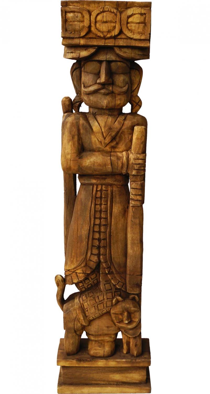Image of   TRADEMARK LIVING Indisk massiv og smuk træfigur