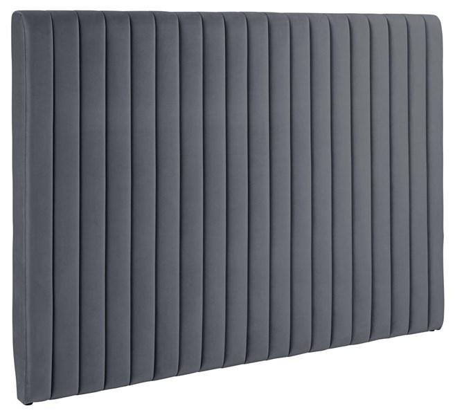 Doria hovedgavl - mørkegrå stof, rektangulær (130x192) thumbnail