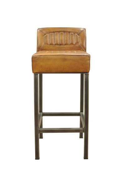 BODAHL Stacey barstol, bøffellæder, Antik lysebrun thumbnail