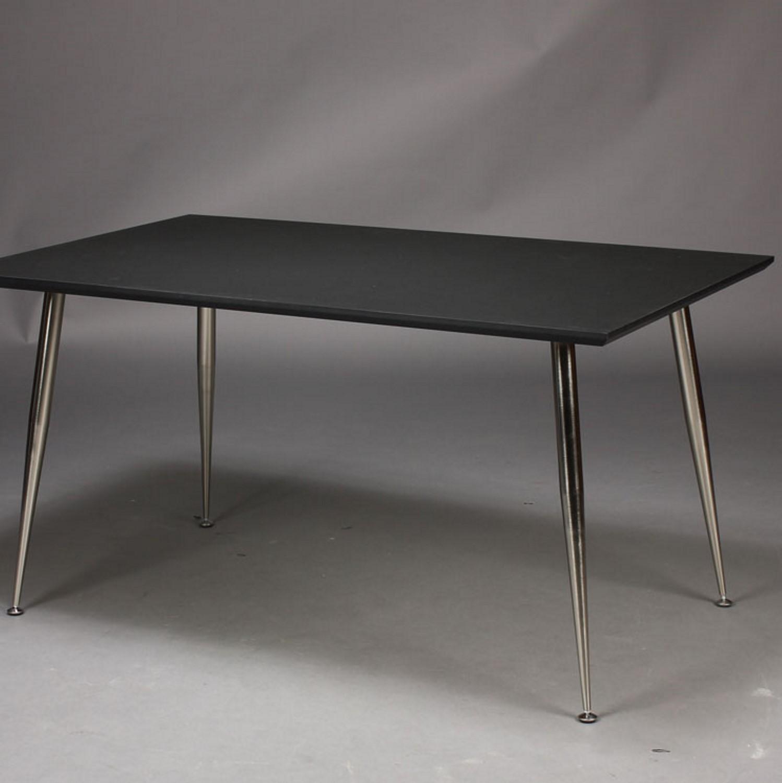 furbo – Furbo spisebord - sort laminat og nikkel ben (100x60) fra boboonline.dk