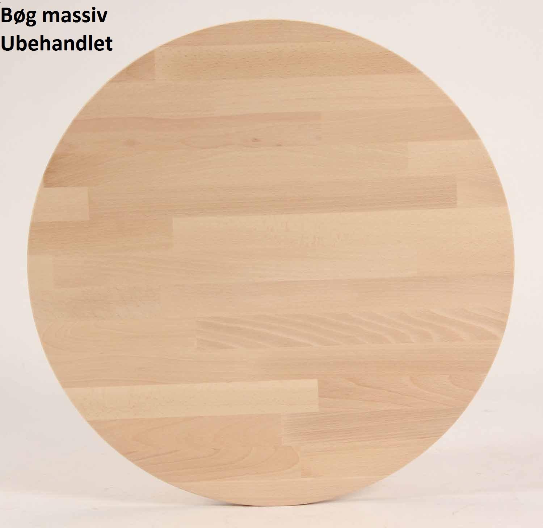 FURBO spisebord - massiv behandlet bøg, rund (Ø 80) Sæbe bøg