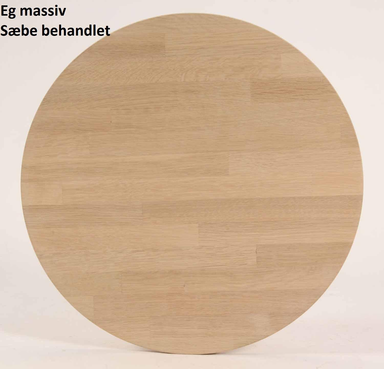 FURBO spisebord - massiv behandleteg, rund (Ø 90) Sæbe eg
