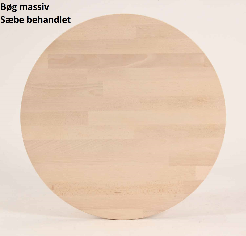 FURBO spisebord - massiv behandlet bøg, rund (Ø 100) Sæbe eg