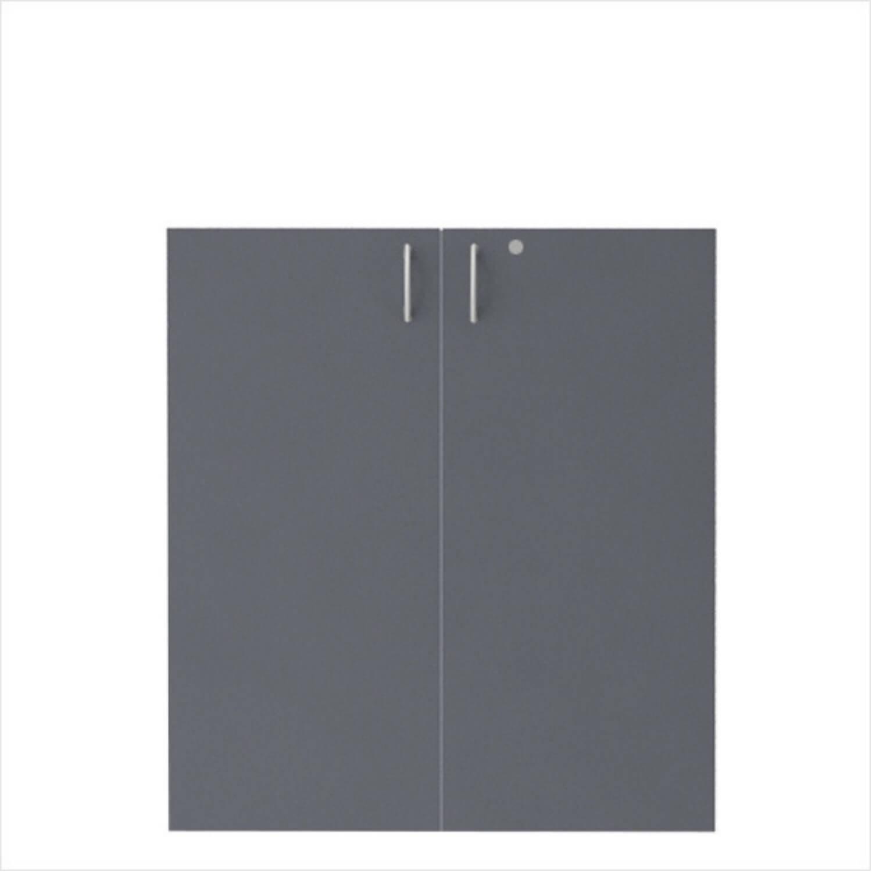 FTI EPF Eco lågesæt - antracit/bøg laminat, m. lås, passer til 2 rums-reol Antracit