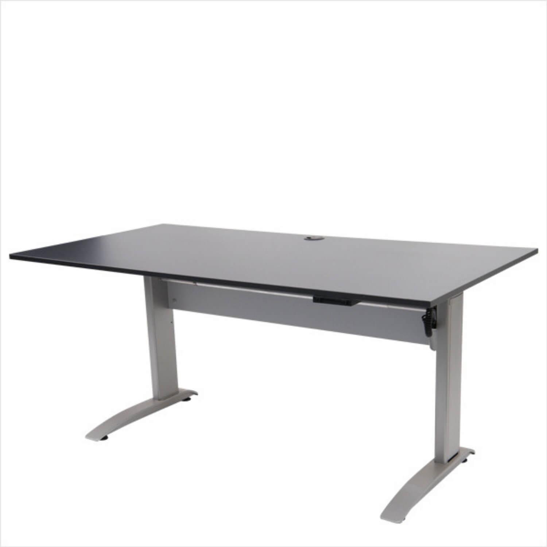 EP 1750 hæve/sænke bord - sort/hvid m. aluben, elektrisk Sort