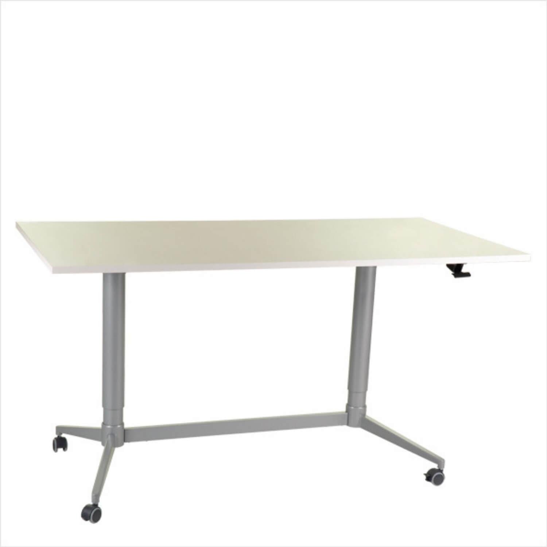 FTI Greenline Mono skrivebord - hvid laminat, m. hæve/sænke funktion (80x160)