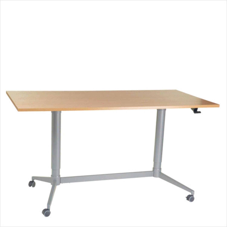 FTI Greenline Mono skrivebord - bøgetræ laminat, m. hæve/sænke funktion (80x160)