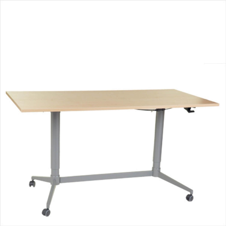 FTI Greenline Mono skrivebord - ahorntræ laminat, m. hæve/sænke funktion (80x160)