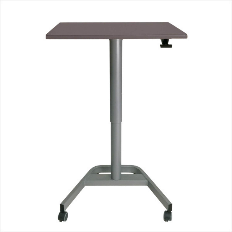 Greenline bord - antracitgrå laminat m. hæve/sænke funktion, 70x60