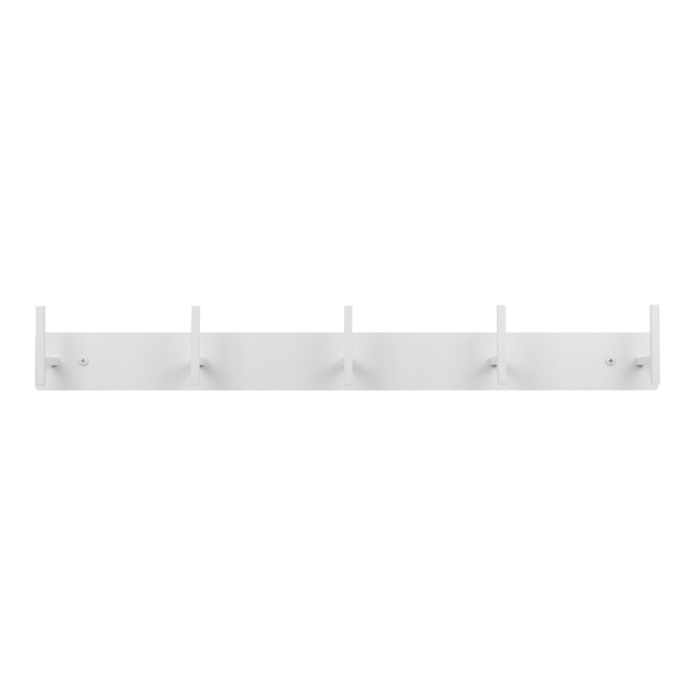 SPINDER DESIGN rektangulær Chapman knagerække, m. 5 knager - hvidt stål