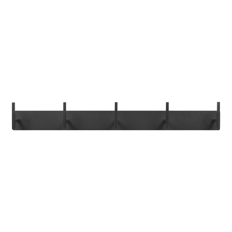 SPINDER DESIGN rektangulær Chapman knagerække, m. 5 knager - sort stål