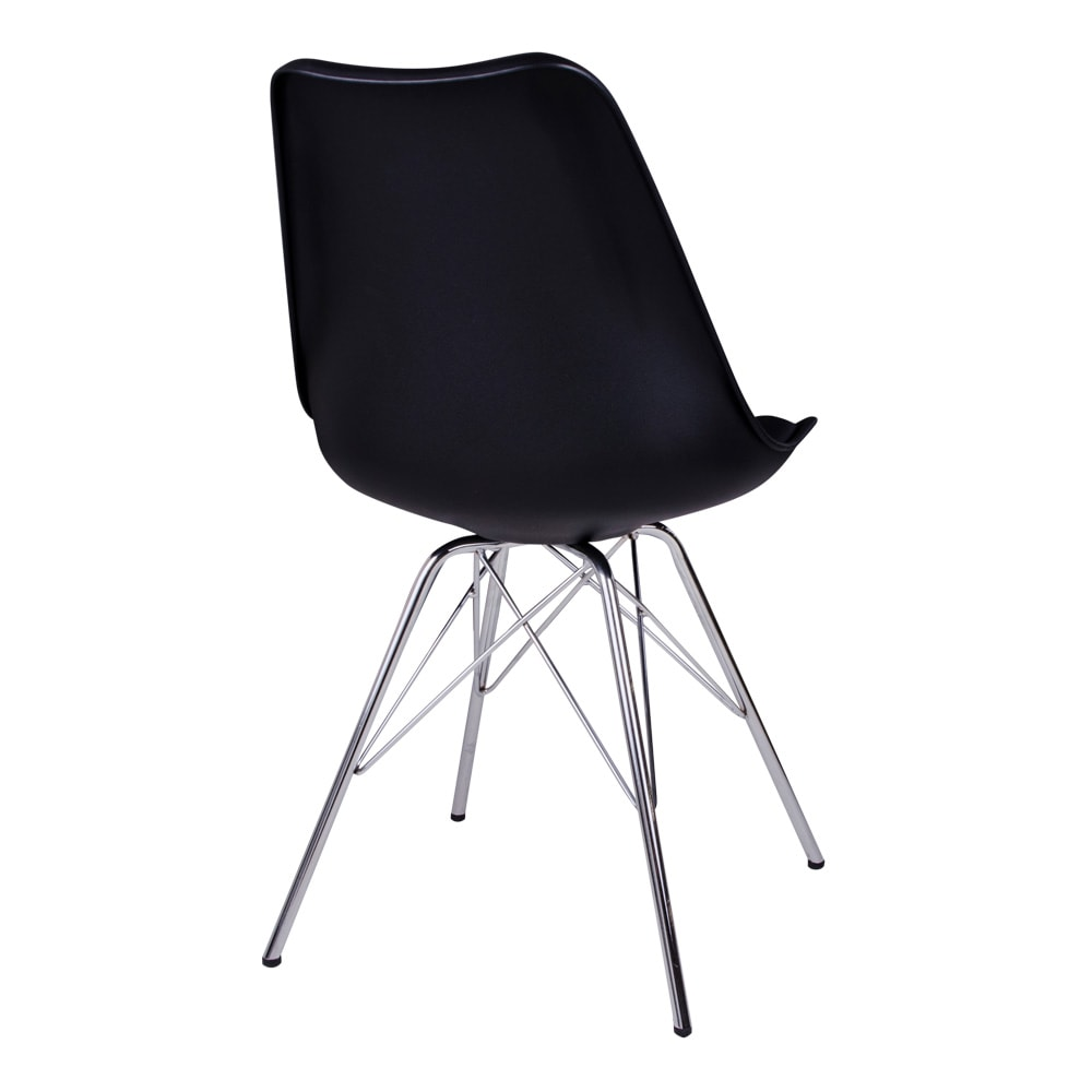 House nordic oslo spisebordsstol i sort med krom ben fra house nordic på boboonline.dk