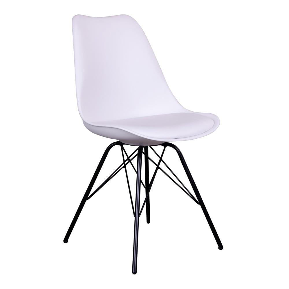 House nordic oslo spisebordsstol i hvid med sorte ben fra house nordic på boboonline.dk