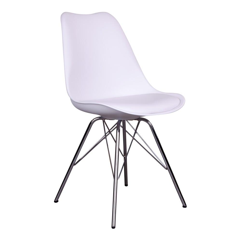 house nordic – House nordic oslo spisebordsstol i hvid med krom ben fra boboonline.dk