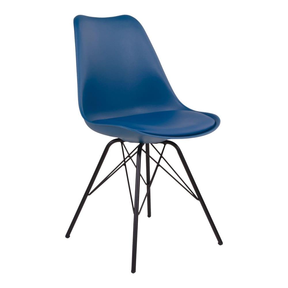 house nordic House nordic oslo spisebordsstol i petroleumsblå med sorte ben på boboonline.dk