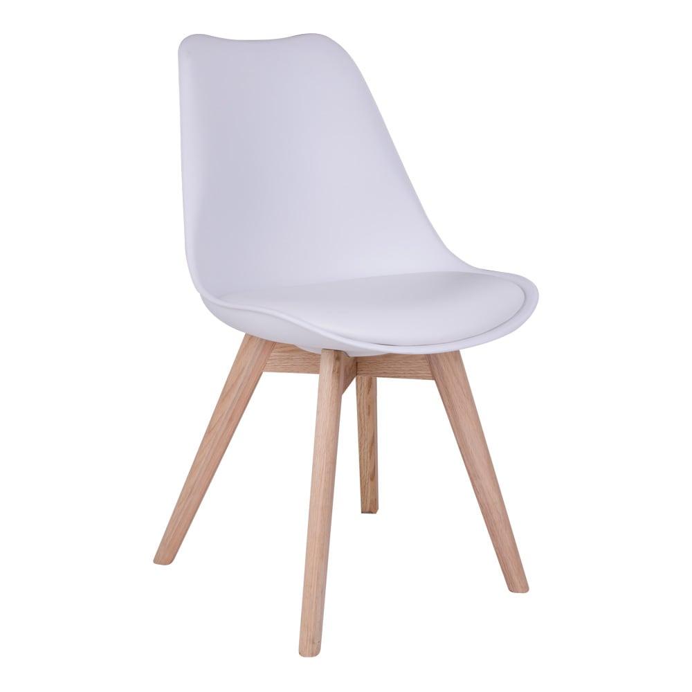House nordic molde spisebordsstol i hvid med natur træben fra house nordic fra boboonline.dk