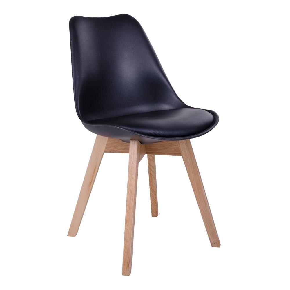 house nordic House nordic molde spisebordsstol i sort med natur træben fra boboonline.dk