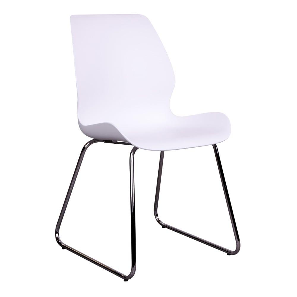 House nordic sola spisebordsstol i hvid med krom ben fra house nordic på boboonline.dk