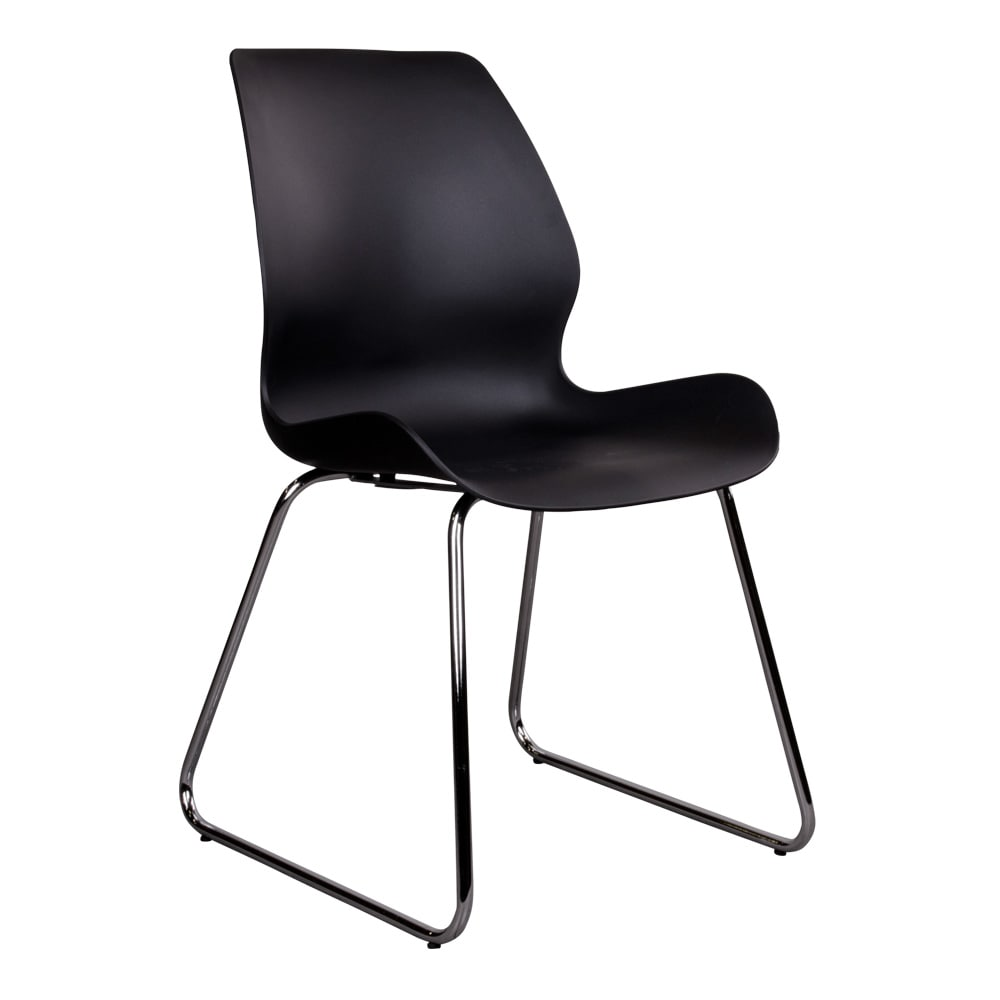House nordic sola spisebordsstol i sort med krom ben fra house nordic på boboonline.dk