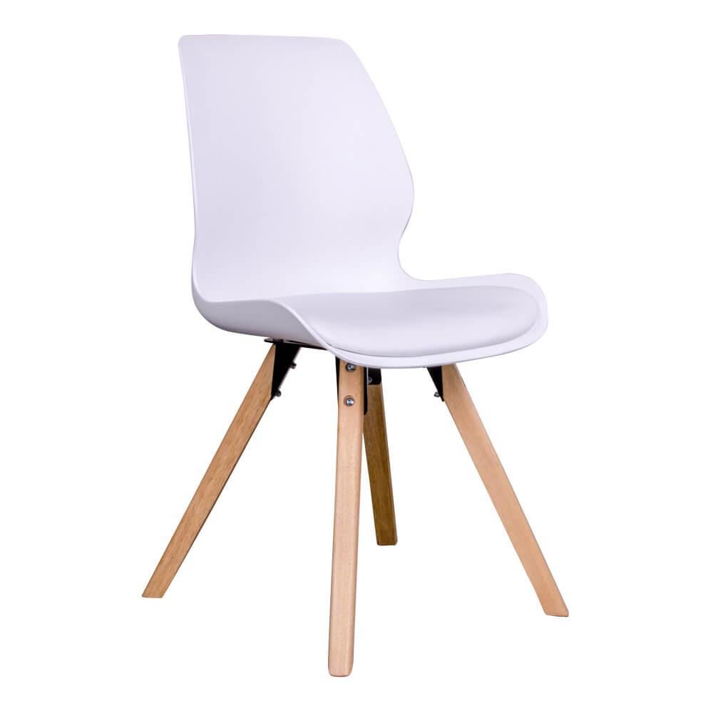 house nordic House nordic rana spisebordsstol i hvid med natur træben fra boboonline.dk