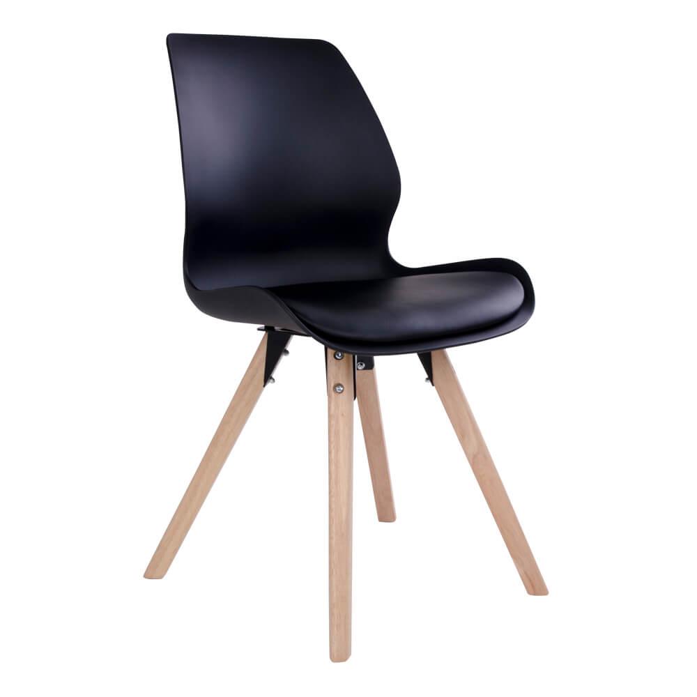 House nordic rana spisebordsstol i sort med natur træben fra house nordic fra boboonline.dk