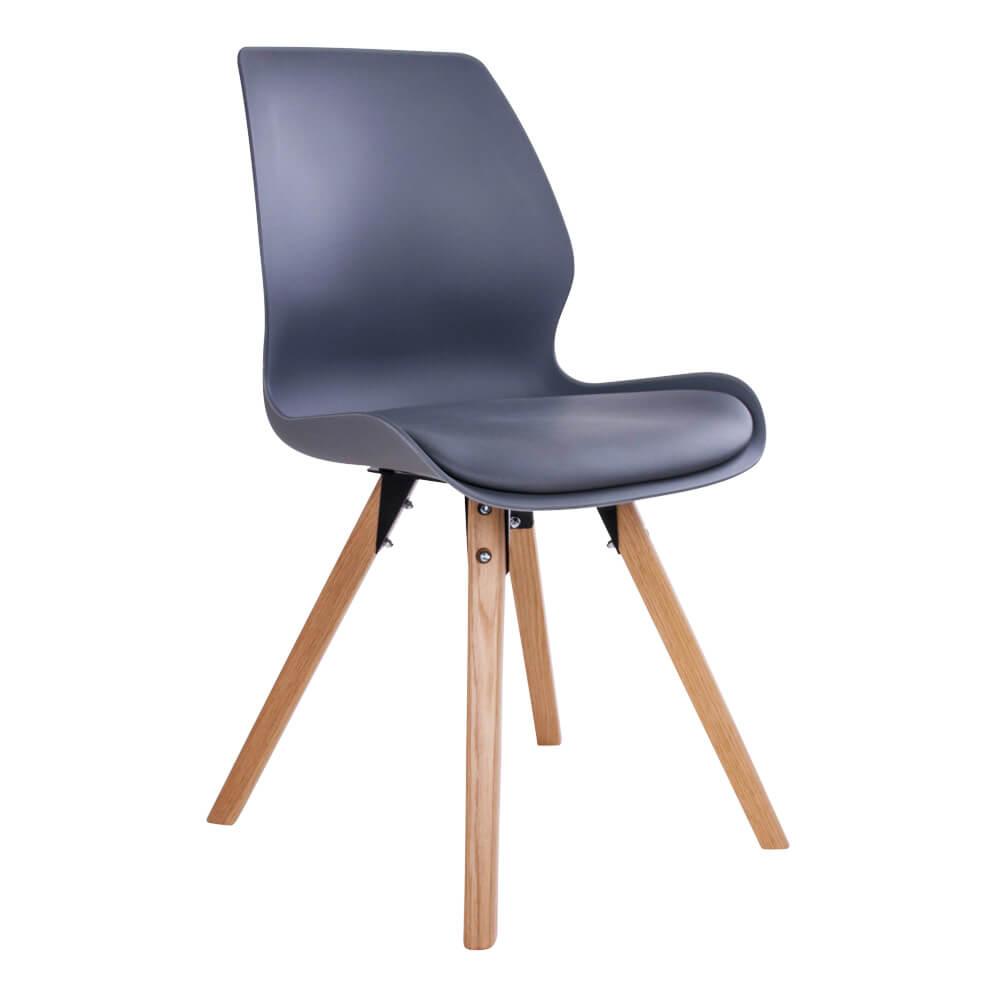 House nordic rana spisebordsstol i grå med natur træben fra house nordic på boboonline.dk