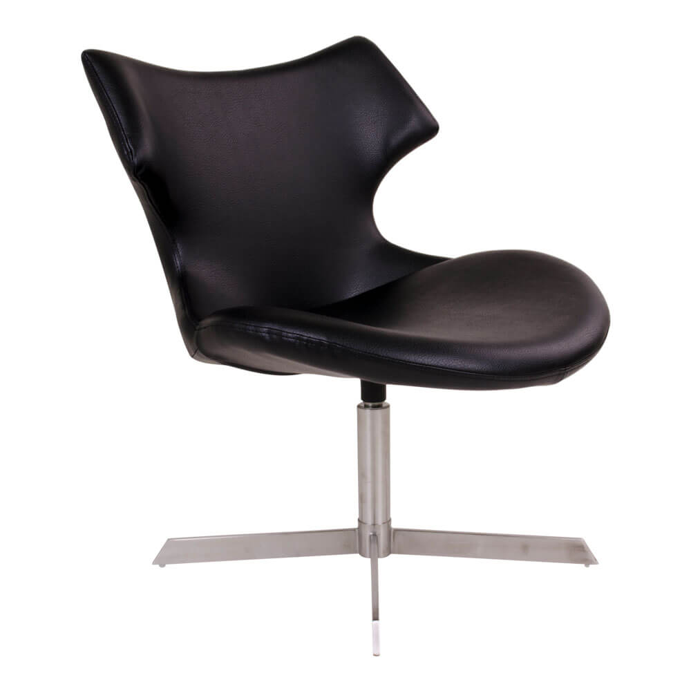 Image of   HOUSE NORDIC Zampi lænestol i sort kunstlæder