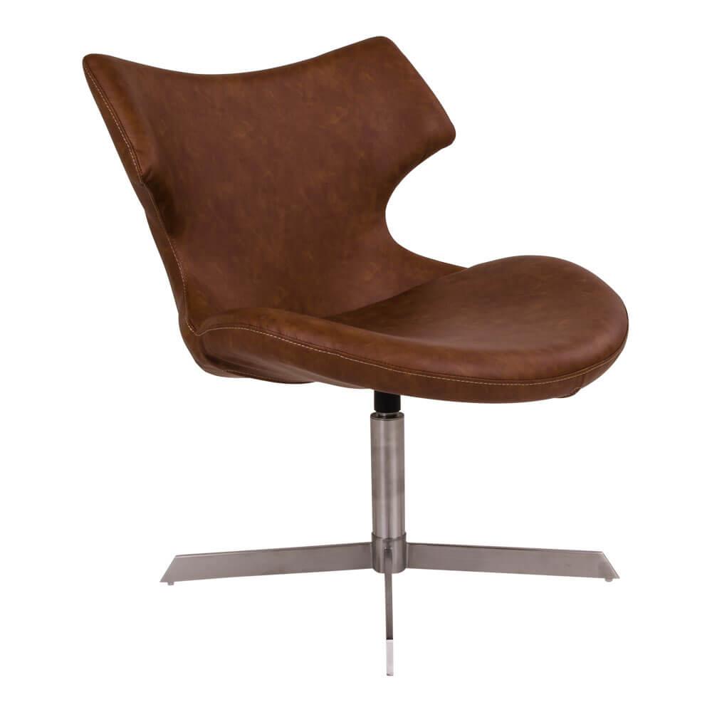 Image of   HOUSE NORDIC Zampi lænestol i brunt kunstlæder