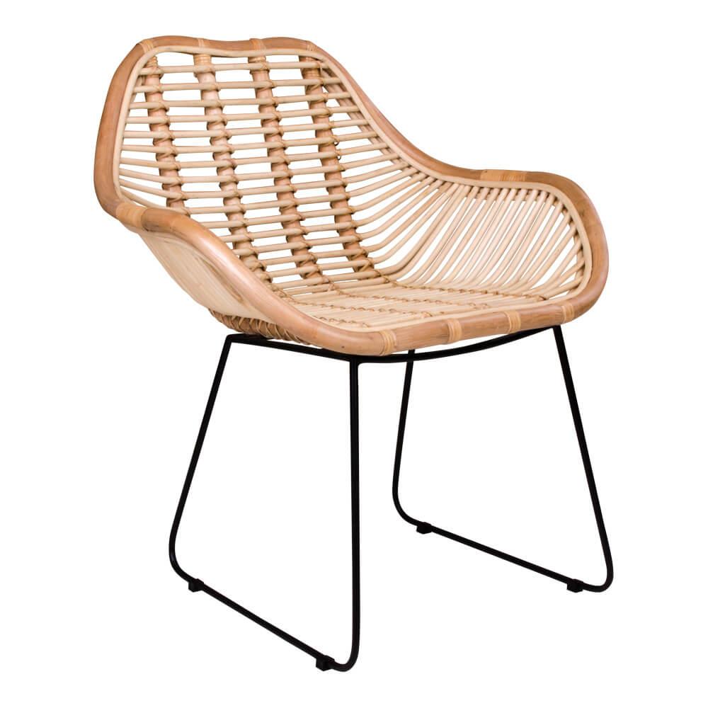 Image of   House Nordic Valence lænestol i natur med sorte ben