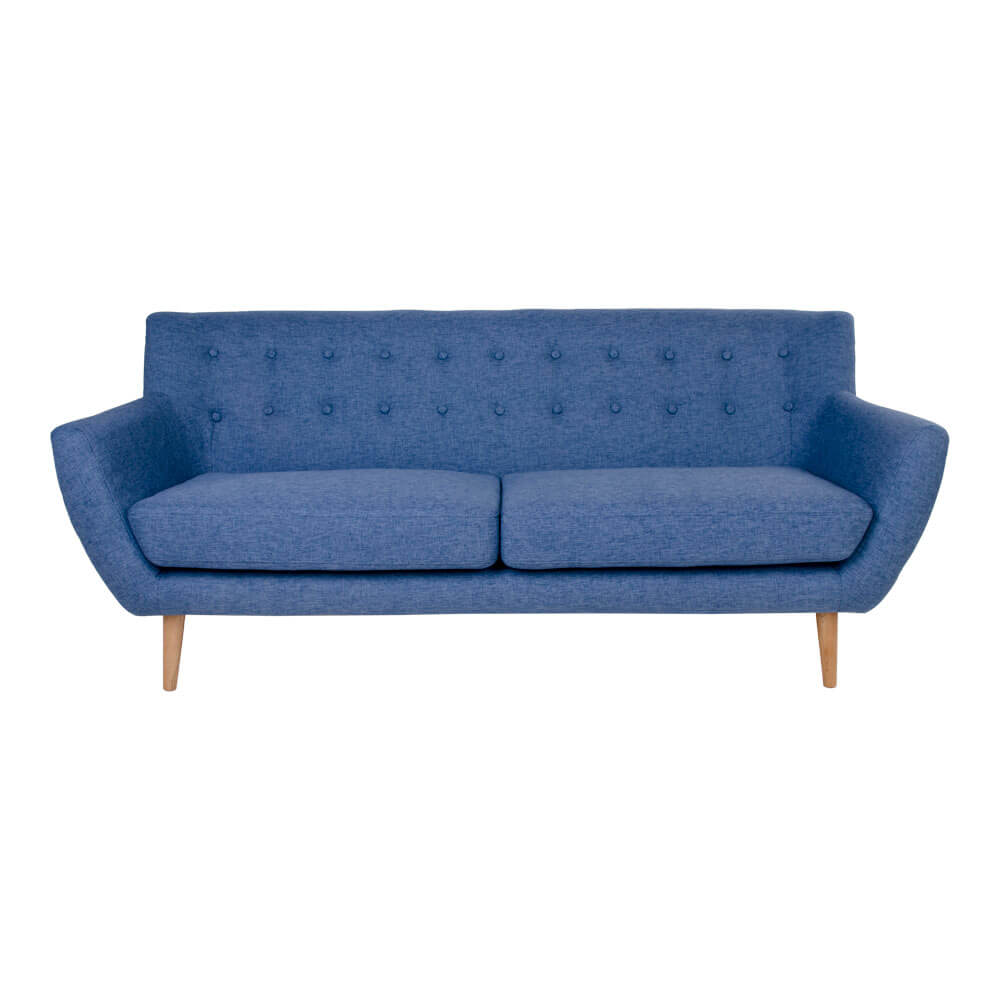 HOUSE NORDIC Monte 3 personers sofa i blåt stof