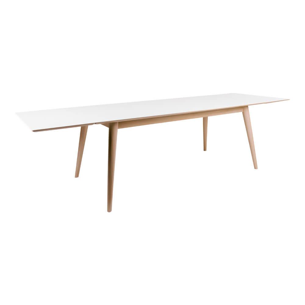 house nordic – House nordic copenhagen spisebord - hvid/natur incl. 2 tillægsplader fra boboonline.dk