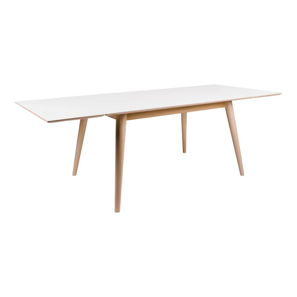 house nordic – House nordic copenhagen spisebord - hvid/natur incl. 2 tillægsplader på boboonline.dk