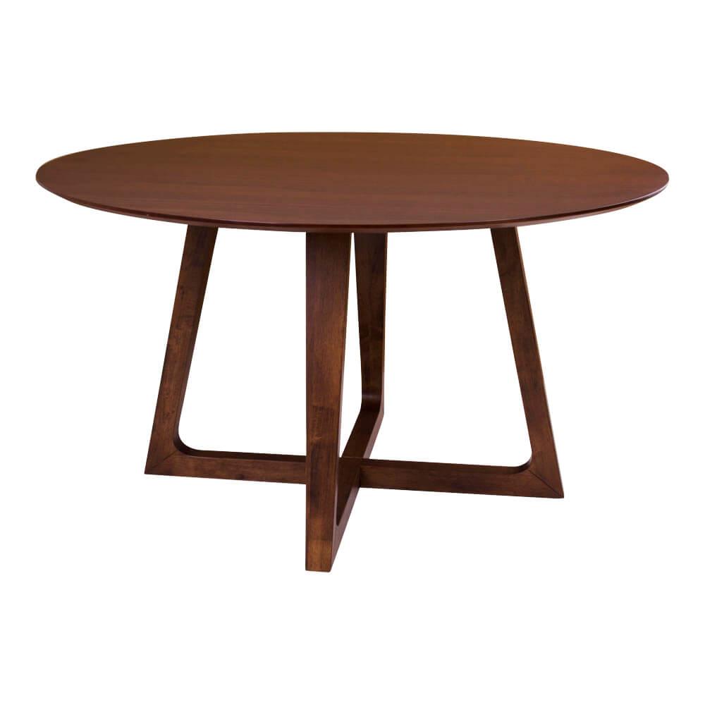 HOUSE NORDIC Hellerup spisebord - valnød og træstel, rund (Ø 137)