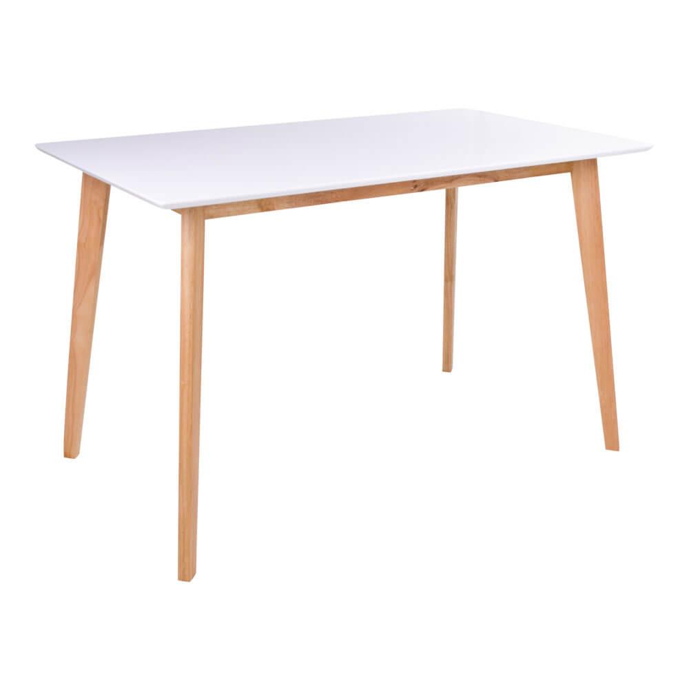 house nordic – House nordic vojens spisebord - hvid træplade og natur træben (120x70) fra boboonline.dk