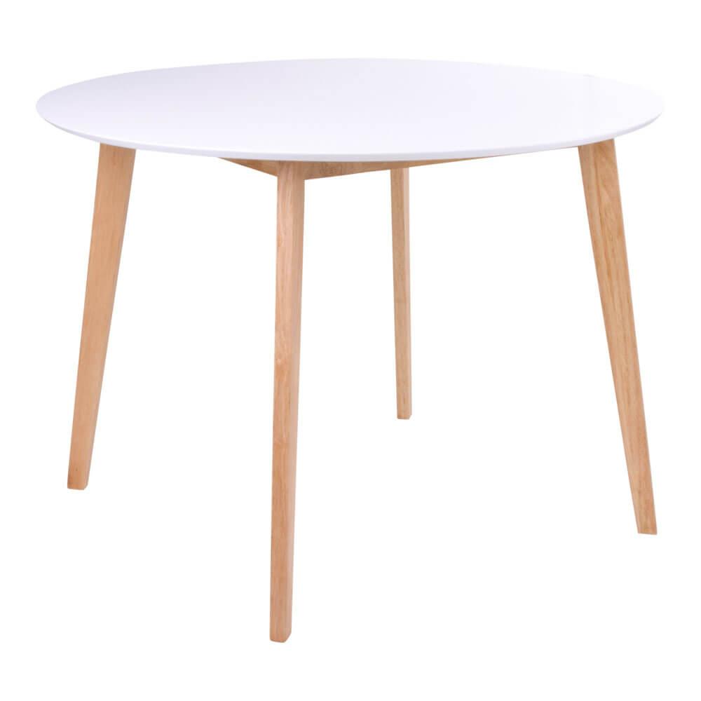 Billede af House Nordic Vojens rundt spisebord i hvid og natur