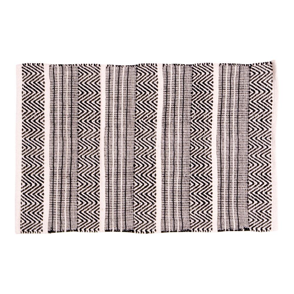 House nordic harber tæppe - naturfarvet, vævet i mønster