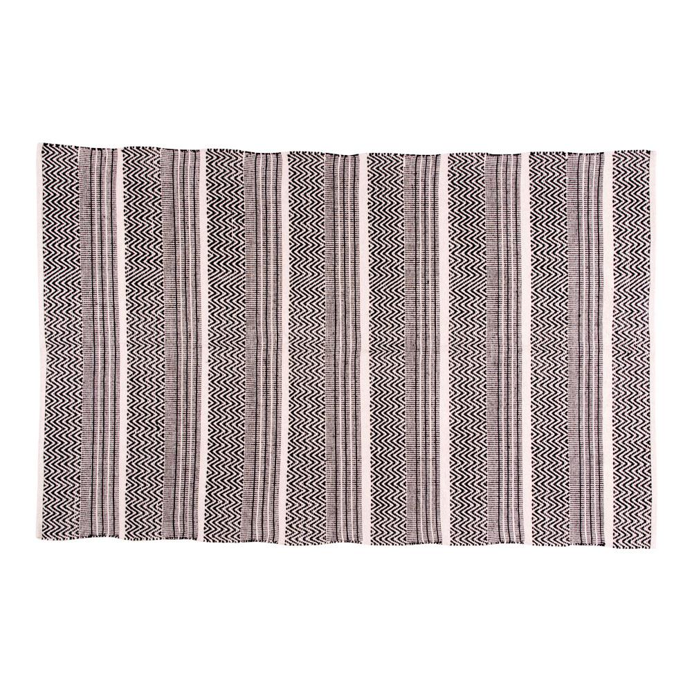 Billede af House Nordic Harber tæppe - Naturfarvet, vævet i mønster